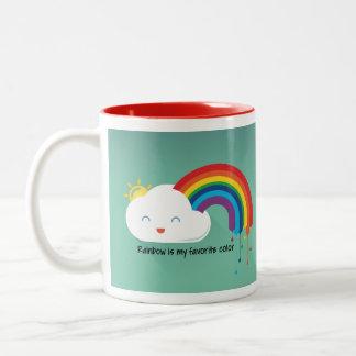 Rainbow Color Two-Tone Coffee Mug