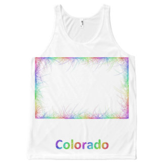Rainbow Colorado map