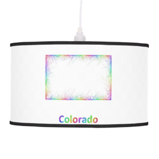 Rainbow Colorado map Pendant Lamps