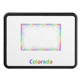 Rainbow Colorado map Trailer Hitch Cover