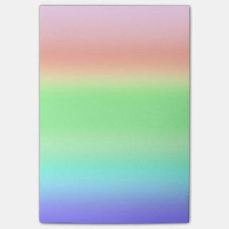 Rainbow Colored BiFrost Burning Bridge Gradient Sticky Notes
