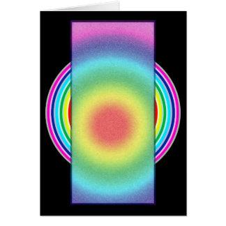 Rainbow colored card