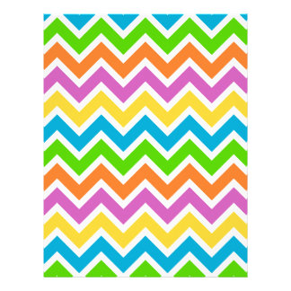 rainbow colored chevron zigzag pattern design custom letterhead