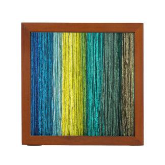 Rainbow Colored Cords Desk Organizer