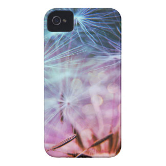 Rainbow Colored Dandelion Puffs Floating iPhone 4 Cover