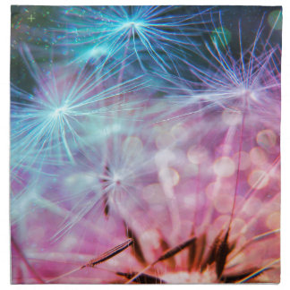 Rainbow Colored Dandelion Puffs Floating Napkin
