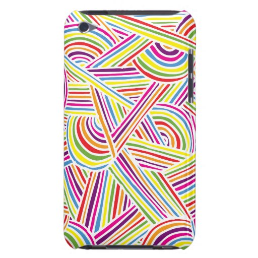Rainbow-colored Fun Doodle Lines iPod Touch Covers