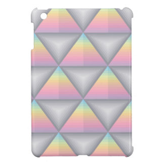 Rainbow Colored Geometric Triangles iPad Mini Case