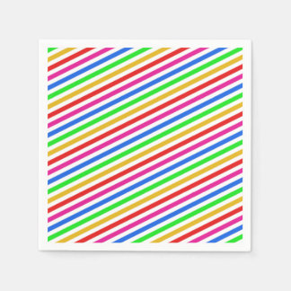 Rainbow Colored Paper Napkins