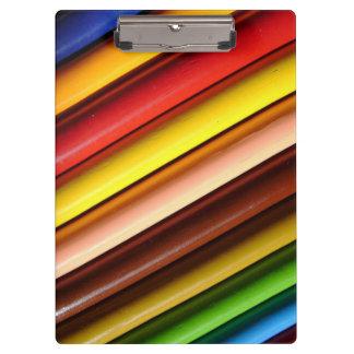 Rainbow Colored Pencils Clipboard