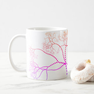 Rainbow Colored Tree Digital Art Coffee Mug