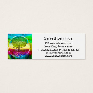 Rainbow Colored Tree of Life Mini Business Card