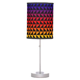 Rainbow Colored Triangle Geometric Pattern Lamp