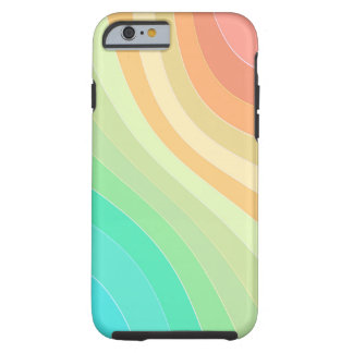 Rainbow Colored Waves Tough iPhone 6 Case