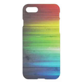 Rainbow Colored Wood Stain iPhone 7 Case