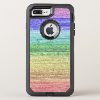 Rainbow Colored Wooden Texture OtterBox Defender iPhone 8 Plus/7 Plus Case