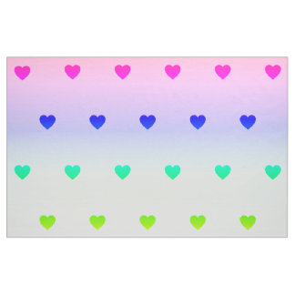 Rainbow-coloredly materials with heart Pastell Fabric