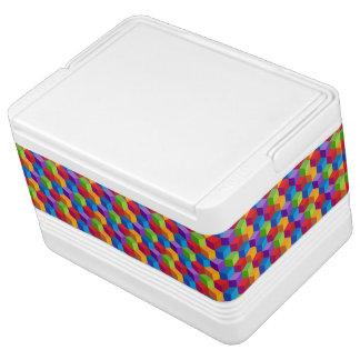 Rainbow Colorful Block Cube Pattern
