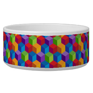 Rainbow Colorful Block Cube Pattern