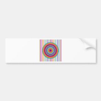 Rainbow colorful patterns bumper sticker