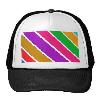 Rainbow Colorful Stripe Tshirts Trucker Hat