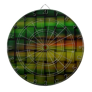 Rainbow colorful wicker art graphic design 2 dart boards
