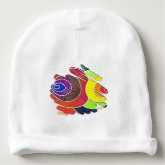 Rainbow Colors Art Spirals Chakras Baby Beanie