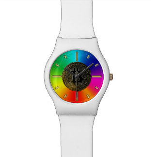 Rainbow Colors bitcoin Watch