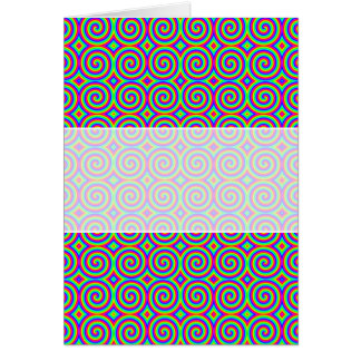 Rainbow Colors. Bright and Colorful Spirals. Card