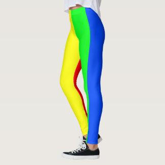 Rainbow colors, bright happy stunning stripes leggings