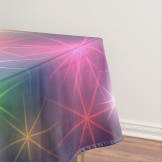 Rainbow Colors Christmas Party Stars Tablecloth