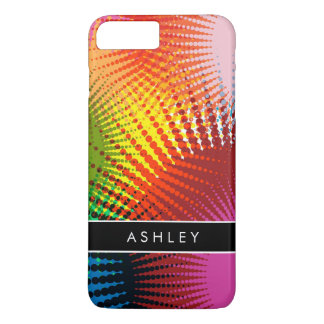 Rainbow Colors - Colorful Abstract Personalized iPhone 7 Plus Case