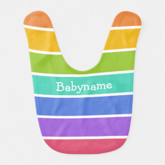 Rainbow Colors custom baby bib