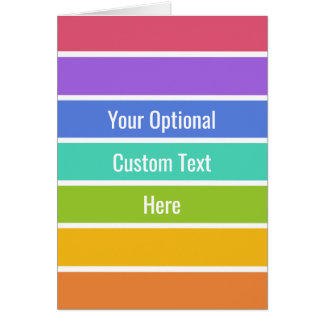 Rainbow Colors custom greeting card