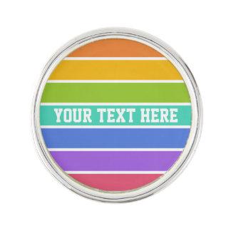 Rainbow Colors custom lapel pin