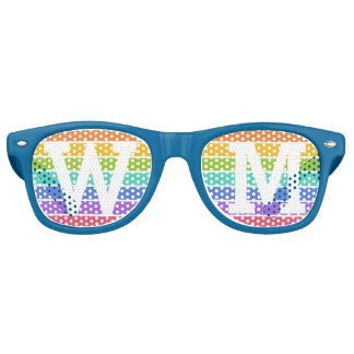 Rainbow Colors custom monogram party shades