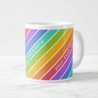 Rainbow Colors custom mugs Jumbo Mug