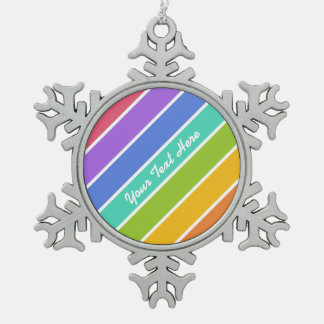 Rainbow Colors custom ornaments