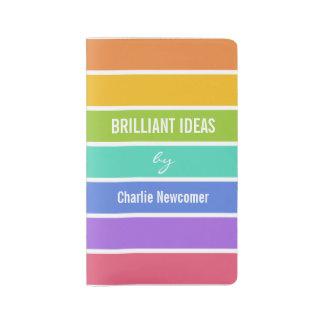 Rainbow Colors custom text notebooks