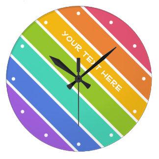 Rainbow Colors custom wall clocks