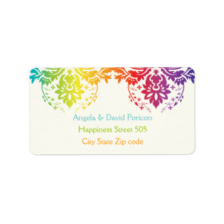 Rainbow colors damask request