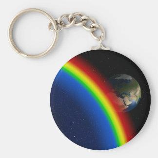 Rainbow Colors Destiny Stars Space World Keychains