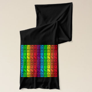 Rainbow Colors Dominoes Design Scarf