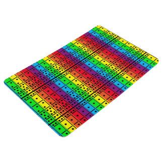 Rainbow Colors Dominoes Floor Mat