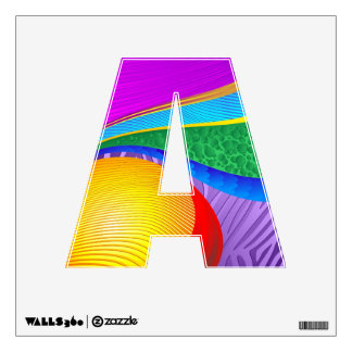 Rainbow Colors Fantasy Alphabet Wall decal
