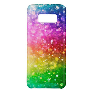 Rainbow Colors Faux Glitter Bokeh Style Case-Mate Samsung Galaxy S8 Case