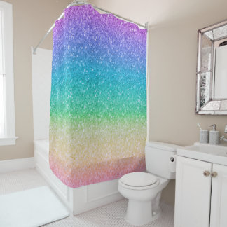 Rainbow Colors Glitter Sparkle Girly Glam Colorful