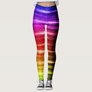 Rainbow Colors Lined Leggings