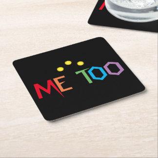 Rainbow Colors ME TOO Square Paper Coaster
