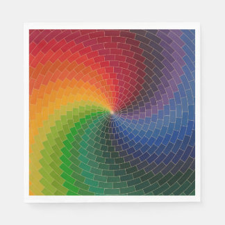 RAINBOW COLORS PAPER NAPKIN